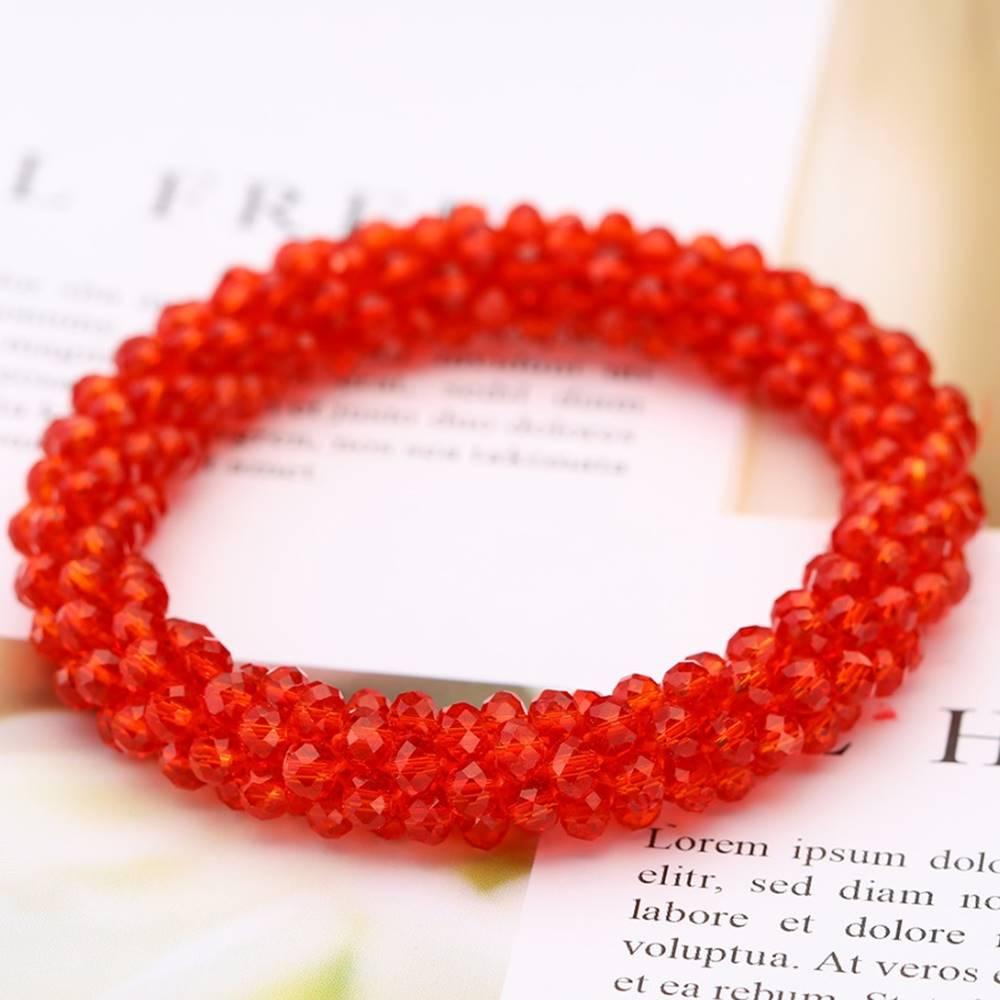 Izmael Náramok Beads-Červená Kryštálová
