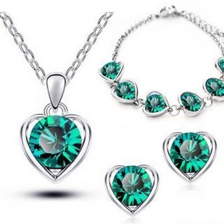 Set Love Heart - Zelená
