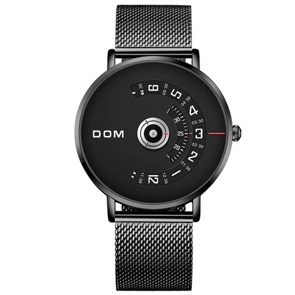 Izmael Pánske Hodinky DOM Steel-Čierna