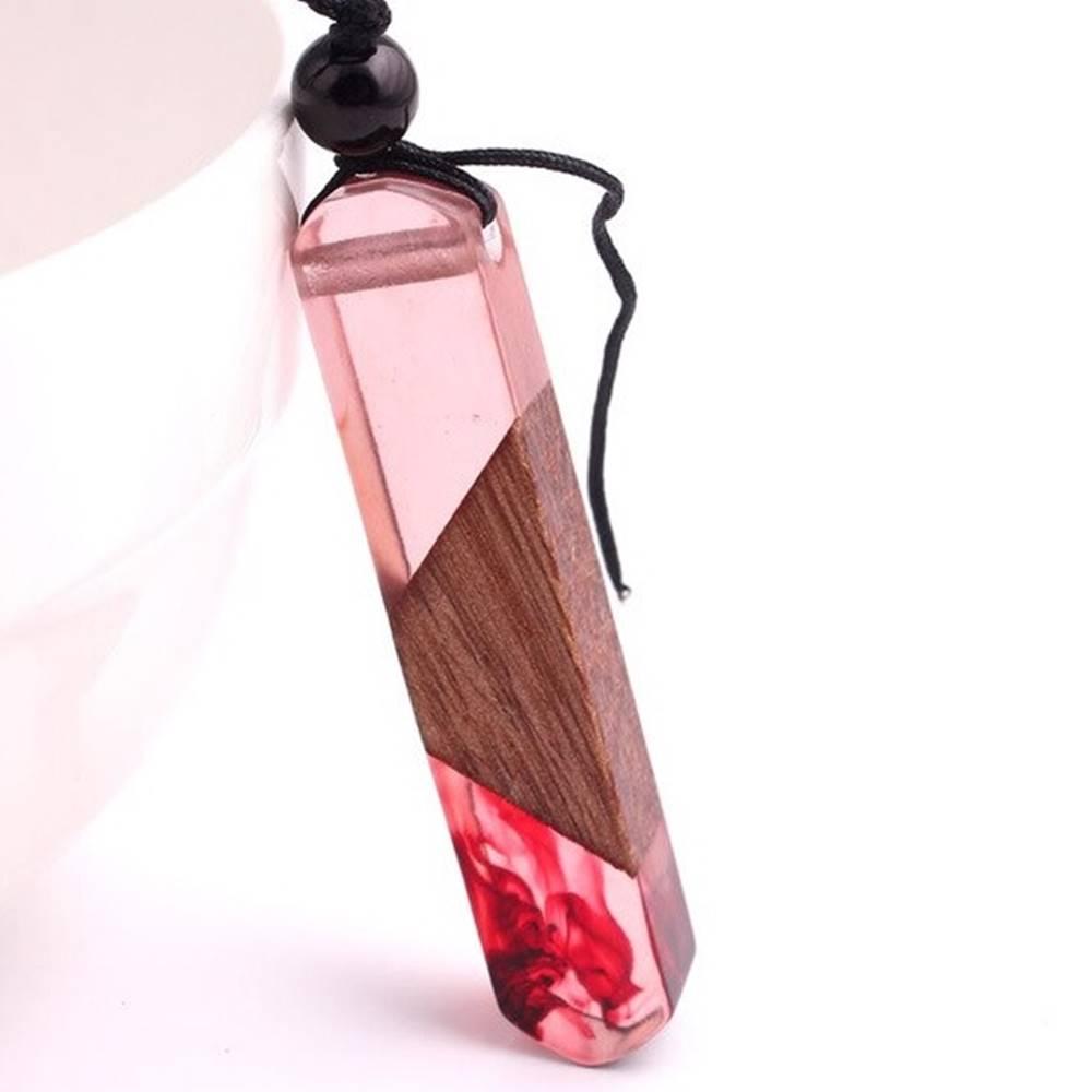 Izmael Náhrdelník Pink Resin-Ružová
