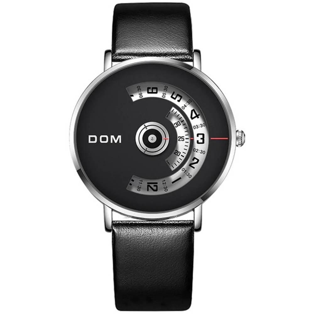 Izmael Pánske Hodinky DOM Luxury-Čierna/Biela