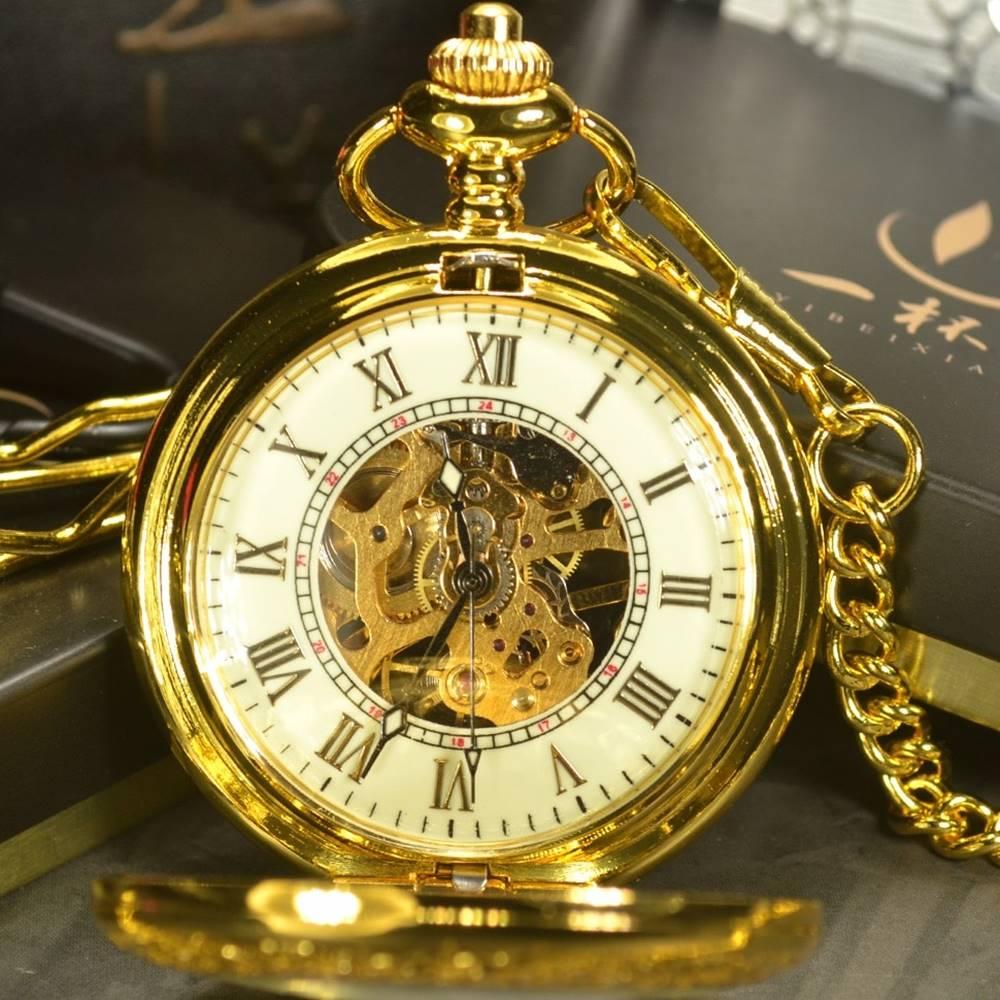Izmael Vreckové Hodinky Luxury-Zlatá
