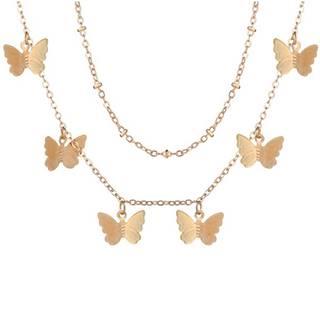 Náhrdelník Butterfly-Zlatá/Typ2
