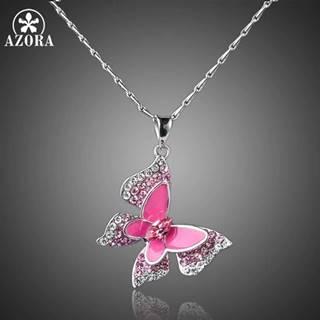 Náhrdelník Pink Butterfly AZORA-Str./Ružová