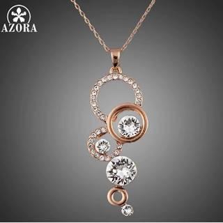 Náhrdelník Round AZORA-Zlatá