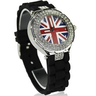Hodinky Crystal Británia-Čierna