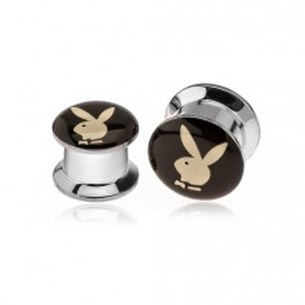 Šperky eshop Plug do ucha z chirurgickej ocele, hlava zajačika - Hrúbka: 10 mm