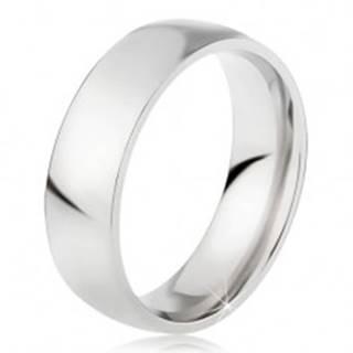 Oceľový prsteň s lesklým povrchom striebornej farby, 6 mm - Veľkosť: 49 mm