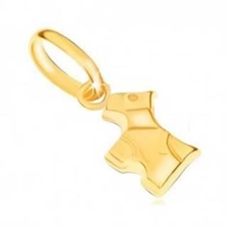 Prívesok v žltom 9K zlate - ligotavý trojrozmerný psík