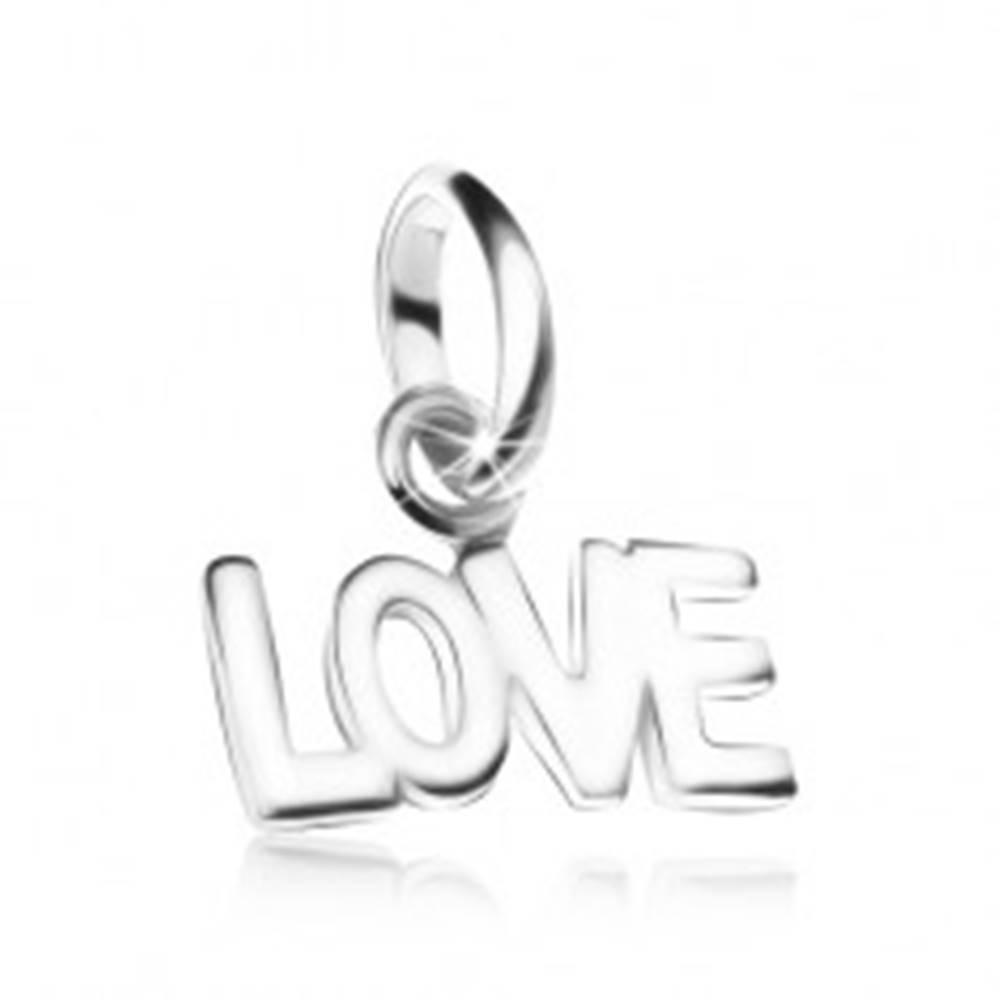 Šperky eshop Prívesok LOVE, zo striebra 925