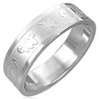 Prsteň z chirurgickej ocele - zverokruh - Veľkosť: 52 mm