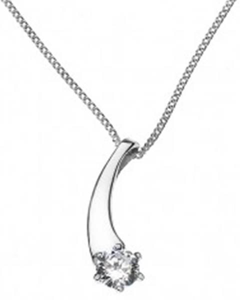 Šperky eshop Náhrdelník zo striebra 925 - padajúca hviezda so zirkónom
