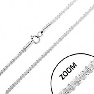 Ligotavá strieborná 925 retiazka - husto spájané očká do špirály, šírka 2 mm, dĺžka 460 mm