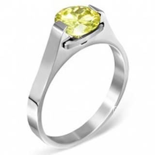 """Oceľový prsteň - mesačný kameň """"November"""", postranné úchyty - Veľkosť: 50 mm"""