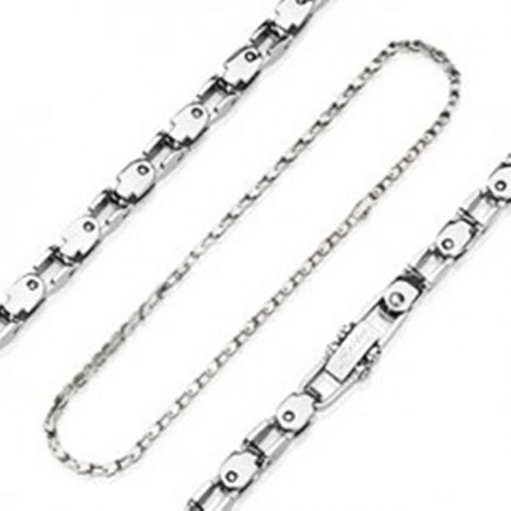 Šperky eshop Retiazka z chirurgickej ocele s napodobením bicyklovej reťaze