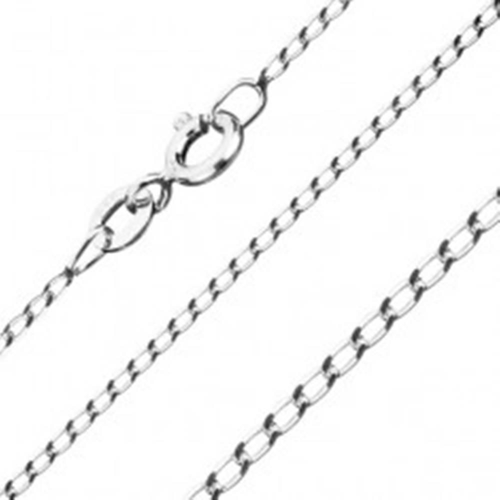 Šperky eshop Retiazka zo striebra 925, hladké oválne očká, 1,3 mm