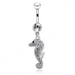 Piercing do bruška z ocele, morský koník