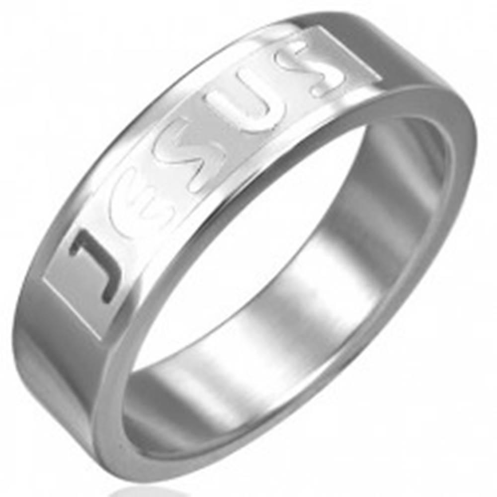 Šperky eshop Prsteň z chirurgickej ocele - JESUS - Veľkosť: 51 mm