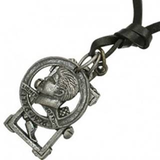 Náhrdelník na šnúrke - minca, kríž, kladivo, klince