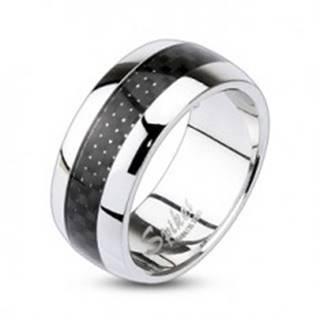 Prsteň z chirurgickej ocele s károvaným vzorom - Veľkosť: 49 mm
