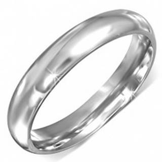 Prsteň z chirurgickej ocele striebornej farby s hladkým povrchom - Veľkosť: 49 mm