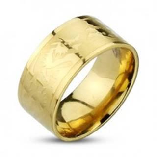 Prsteň z nehrdzavejúcej ocele so symbolom draka - Veľkosť: 59 mm
