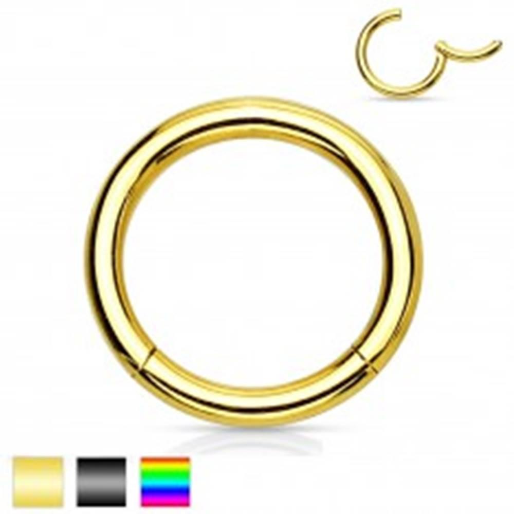 Šperky eshop Piercing do nosa a ucha, chirurgická oceľ, jednoduchý lesklý krúžok, 2 mm - Farba piercing: Čierna