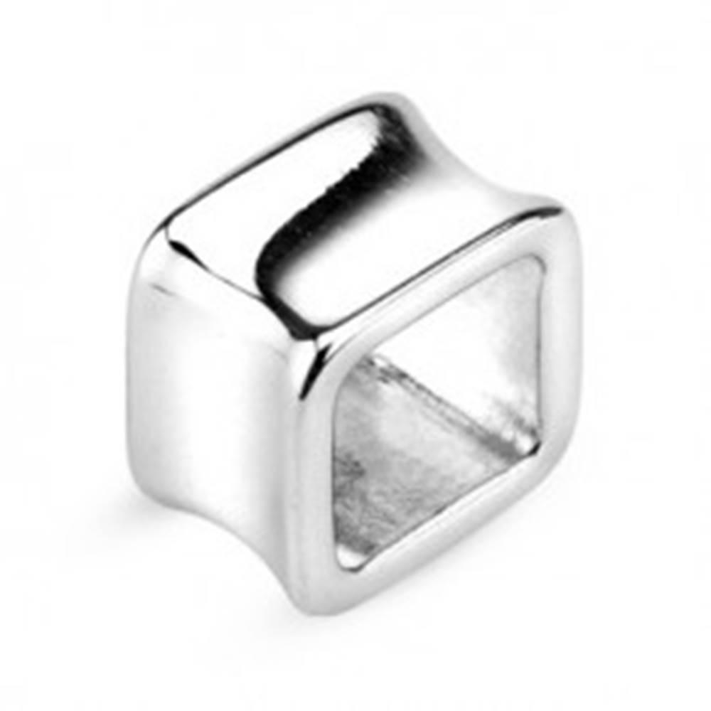 Šperky eshop Tunel do ucha - dutý štvorec z chirurgickej ocele - Hrúbka: 10 mm
