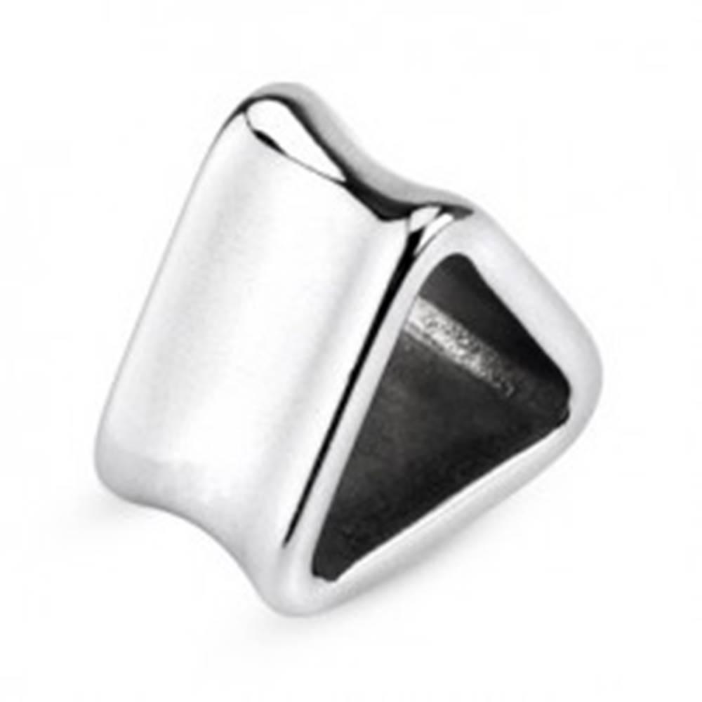 Šperky eshop Tunel do ucha z chirurgickej ocele - triangel - Hrúbka: 10 mm