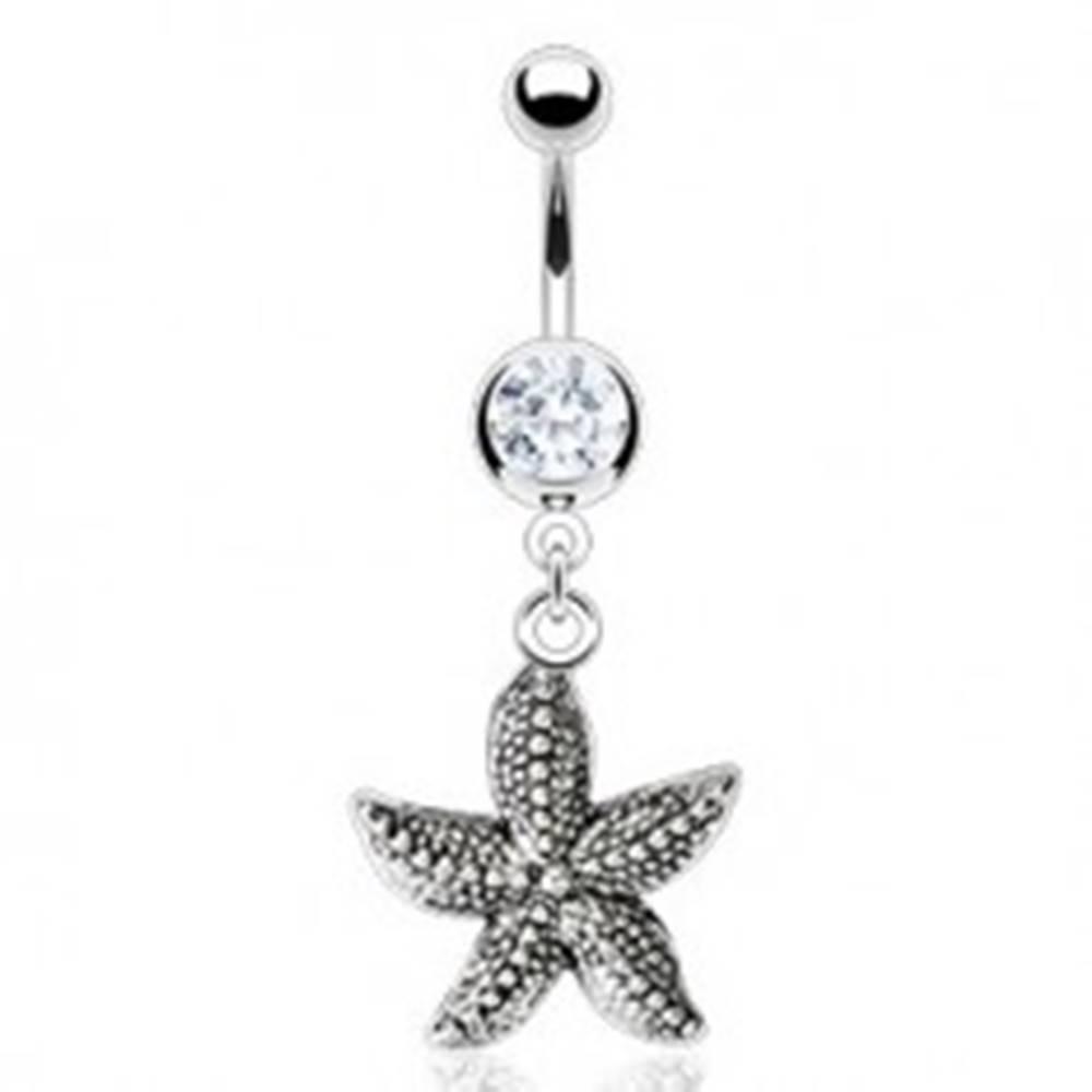 Šperky eshop Vintage piercing do pupka - morská hviezdica
