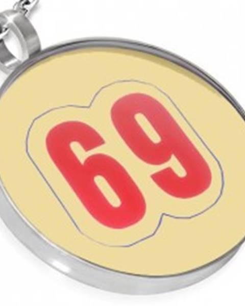 Šperky eshop Prívesok z ocele - kruhový, číslo 69