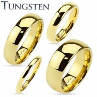 Tungstenová obrúčka zlatej farby, lesklý a hladký povrch, 2 mm - Veľkosť: 47 mm