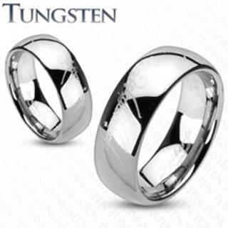 Tungstenový prsteň - obrúčka, hladký lesklý povrch, motív Pána prsteňov, 8 mm - Veľkosť: 49 mm