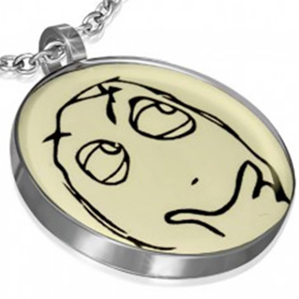 Šperky eshop Oceľový MEME FACE - RUMINANT prívesok, kľúčenka