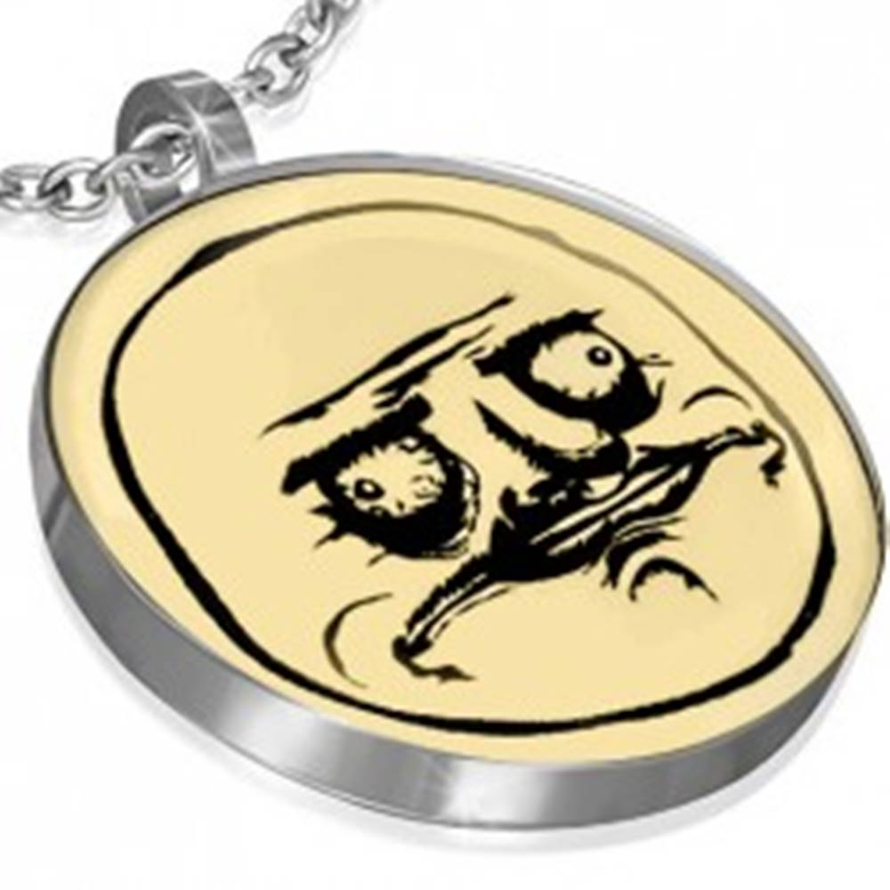 Šperky eshop Oceľový prívesok MEME FACE - ME GUSTA