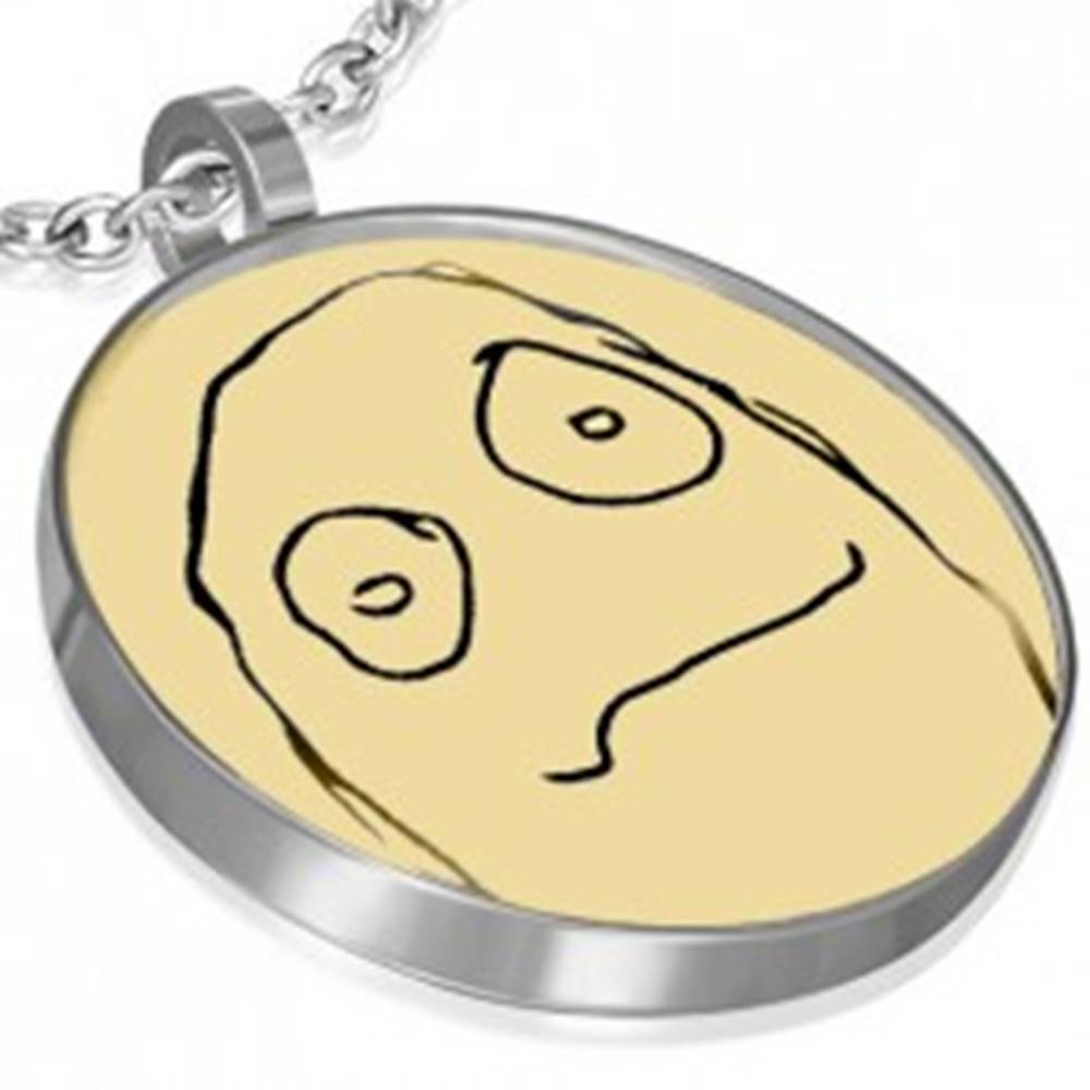 Šperky eshop Prívesok MEME FACE z ocele - AMENABLE