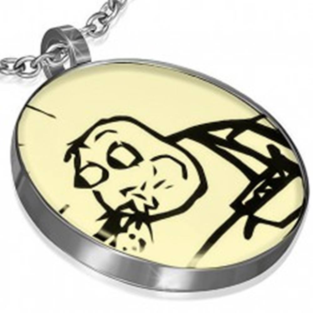 Šperky eshop Prívesok MEME FACE z ocele - CEREAL SPITTING GUY