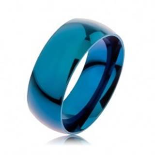 Obrúčka z ocele 316L, modrá farba, anodizovaná titánom, 8 mm - Veľkosť: 57 mm
