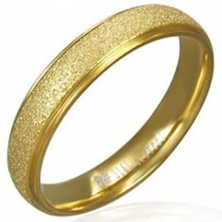 Pieskovaná obrúčka z ocele v zlatej farbe - Veľkosť: 49 mm