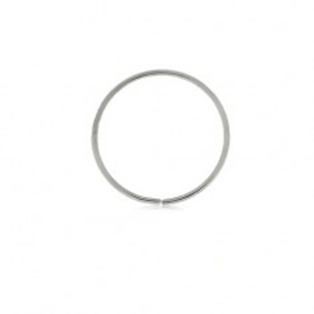 Šperky eshop Piercing z bieleho 9K zlata - lesklý tenký krúžok, hladký povrch - Hrúbka x priemer: 0,6 mm x 10 mm