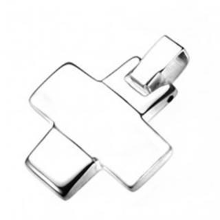 Prívesok z ocele - zrkadlovo lesklý grécky krížik