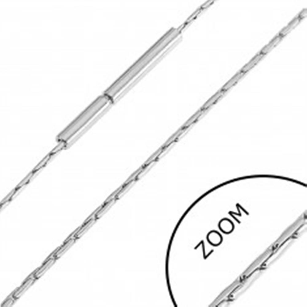 Šperky eshop Retiazka z ocele - drobné paličkové články
