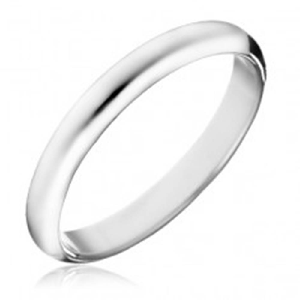 Šperky eshop Prsteň zo striebra 925 - hladká lesklá obrúčka - Veľkosť: 49 mm