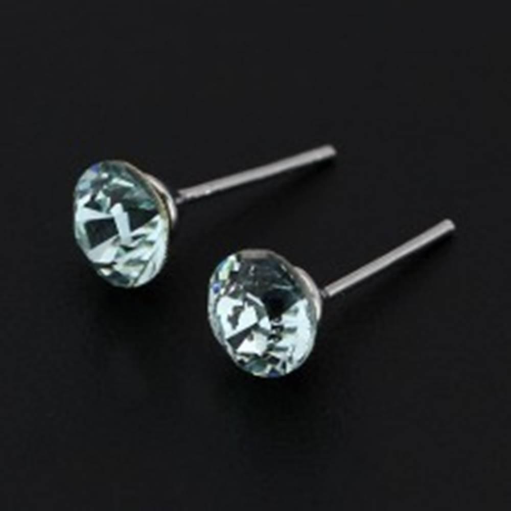 Šperky eshop Náušnice zo striebra 925 - bledomodrý SWAROVSKI krištáľ