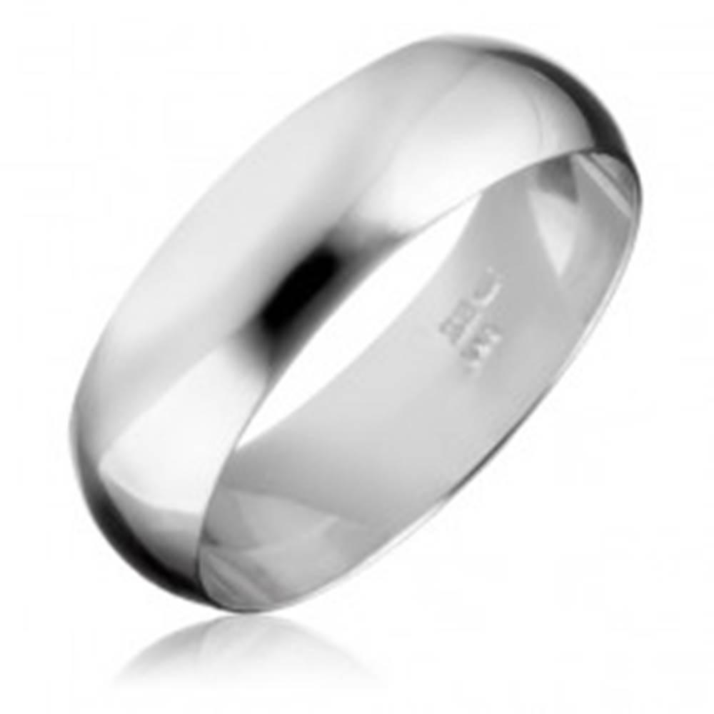 Šperky eshop Strieborná obrúčka 925 - hladký a lesklý povrch - Veľkosť: 50 mm