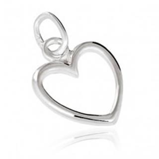 Strieborný prívesok 925 - obrys srdca