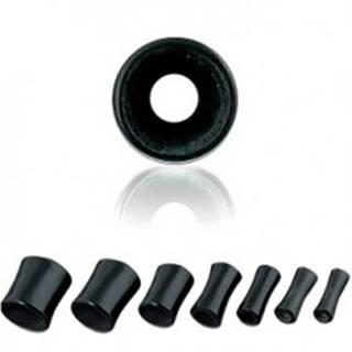 Tunnel do ucha - čierny, sedlový, mramorový - Hrúbka: 10 mm