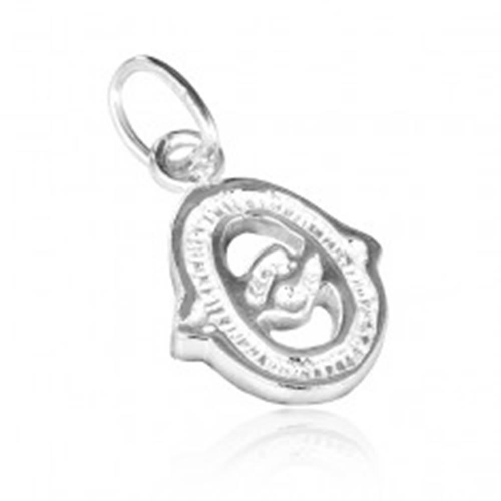 Šperky eshop Prívesok zo striebra 925 - ozdobné písmeno O