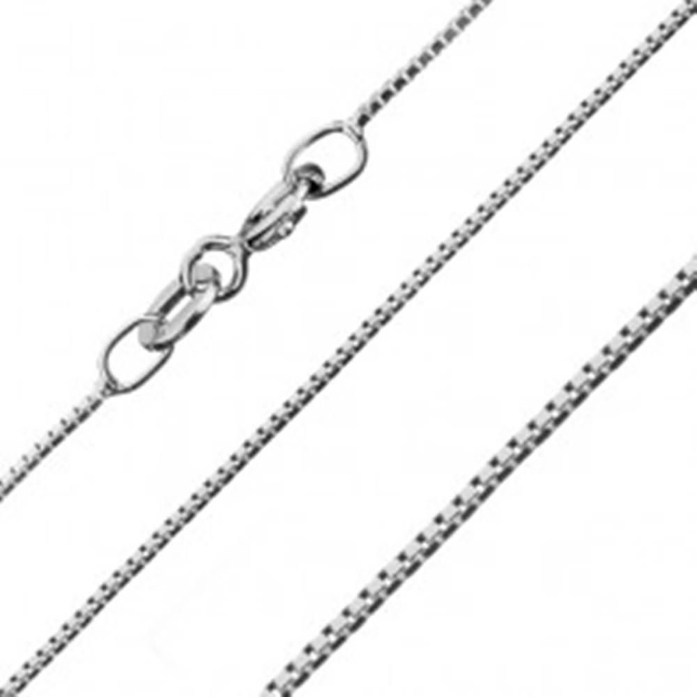 Šperky eshop Strieborná retiazka 925 - malé spojené kocky, 0,7 mm