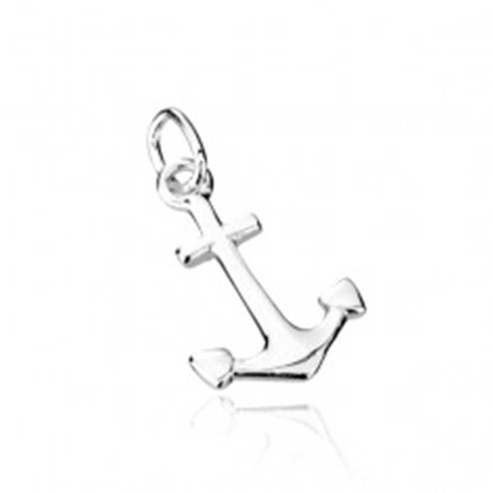 Šperky eshop Strieborný prívesok 925 - kotva
